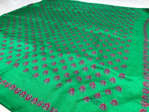Vintage Liberty Of London Silk Ladies Scarf / Green Pink / Floral / Clothing